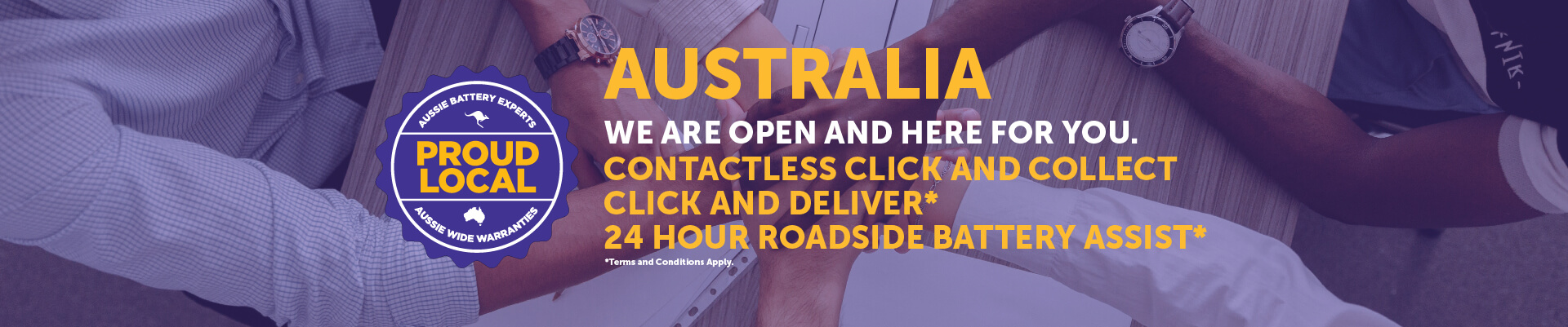 Australia we are open and here for you